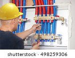 plumber mounted distributor of... | Shutterstock . vector #498259306