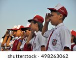 jakarta  indonesia   august 17  ... | Shutterstock . vector #498263062