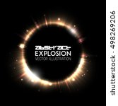 abstract light explosion.... | Shutterstock .eps vector #498269206