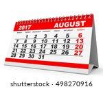 Calendar August 2017 On White...
