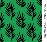 seamless pattern with brush... | Shutterstock .eps vector #498272896