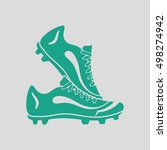 pair soccer of boots  icon.... | Shutterstock .eps vector #498274942