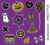 halloween collection vector... | Shutterstock .eps vector #498277915