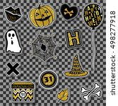 halloween collection vector... | Shutterstock .eps vector #498277918