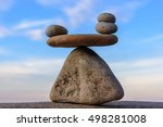 balancing of pebbles on the top ... | Shutterstock . vector #498281008