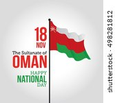 oman national day celebration.... | Shutterstock .eps vector #498281812