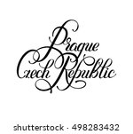 black ink hand lettering... | Shutterstock . vector #498283432