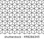 abstract sacred geometry... | Shutterstock .eps vector #498286345