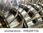 blades of the gas turbine | Shutterstock . vector #498289756