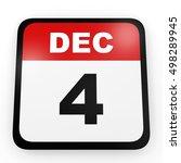 december 4. calendar on white... | Shutterstock . vector #498289945