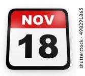 november 18. calendar on white...   Shutterstock . vector #498291865