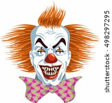 evil killer clown | Shutterstock .eps vector #498297295