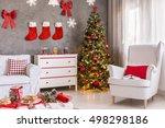 light new design interior with... | Shutterstock . vector #498298186