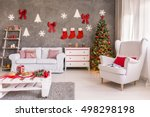 spacious and light living room... | Shutterstock . vector #498298198