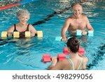 senior couple in training... | Shutterstock . vector #498299056