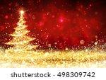 Shining Christmas Tree   Golde...