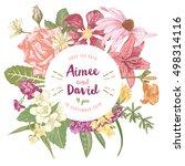hand drawn botanical wedding... | Shutterstock .eps vector #498314116