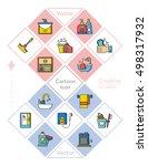 icon set sanitary vector | Shutterstock .eps vector #498317932