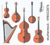 vector string music instruments.... | Shutterstock .eps vector #498322876