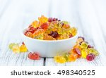 bowl with gummy candy ... | Shutterstock . vector #498340525