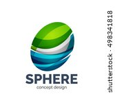 sphere abstract logo template. ... | Shutterstock . vector #498341818