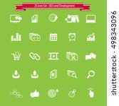seo icons set. | Shutterstock .eps vector #498343096