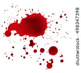 dripping blood isolated on... | Shutterstock .eps vector #498347398