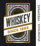 gold label for whiskey or other ... | Shutterstock .eps vector #498349642