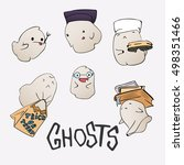 cute ghost characters set.... | Shutterstock .eps vector #498351466