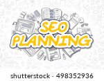seo planning   sketch business... | Shutterstock . vector #498352936