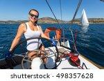 hydra  greece   sep 28  2016 ... | Shutterstock . vector #498357628