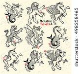 Heraldic Beasts.  Vector...