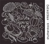 thanksgiving vector set.... | Shutterstock .eps vector #498359392