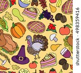 thanksgiving vector seamless... | Shutterstock .eps vector #498359416