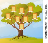 family tree with frames. vector ... | Shutterstock .eps vector #498363106
