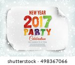 new year party poster template... | Shutterstock .eps vector #498367066