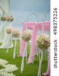 beautiful  wedding setting on... | Shutterstock . vector #498375226
