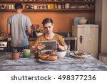 enjoying their morning routine   Shutterstock . vector #498377236