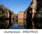 sun shining on river enclosed... | Shutterstock . vector #498379015