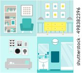 apartment set. apartment... | Shutterstock . vector #498382396