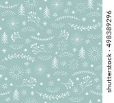 seamless christmas pattern | Shutterstock .eps vector #498389296