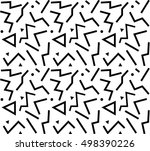 vector pattern with black and... | Shutterstock .eps vector #498390226