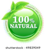 100 percent vector natural label | Shutterstock .eps vector #49839049