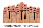 close up of businessman and... | Shutterstock . vector #498398962