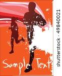 vector sport poster | Shutterstock .eps vector #49840021