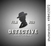 film noir detective abstract... | Shutterstock .eps vector #498415372