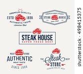 steak house or meat store... | Shutterstock .eps vector #498415375
