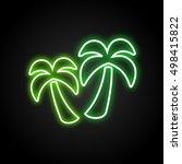 palms neon vector | Shutterstock .eps vector #498415822
