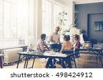 young business people working... | Shutterstock . vector #498424912