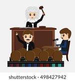 judge striking on desk in... | Shutterstock .eps vector #498427942